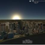 Mirar las sombras y luz solar en el planeta