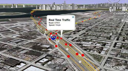 Google Earth en tiempo real